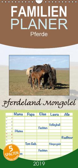 Pferdeland Mongolei – Familienplaner hoch (Wandkalender 2019 , 21 cm x 45 cm, hoch) von Beuck,  AJ
