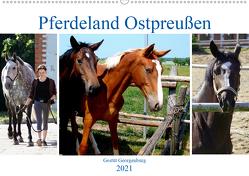 Pferdeland Ostpreußen – Gestüt Georgenburg (Wandkalender 2021 DIN A2 quer) von von Loewis of Menar,  Henning