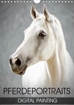 Pferdeportraits – Digital Painting (Wandkalender 2021 DIN A4 hoch) von Thoermer,  Val