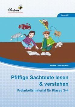 Pfiffige Sachtexte lesen & verstehen von Thum-Widmer,  Sandra