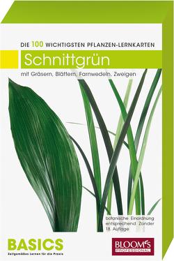 Pflanzen Lernkarten: Die 100 wichtigsten Schnittgrünarten von Haake,  Karl-Michael