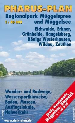 Pharus-Freizeitkarte Müggelsee, Grünheider Wald- und Seengebiet, Regionalpark Müggelspree von Bernstengel,  Rolf