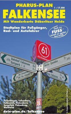 Pharus-Plan FALKENSEE 1: 17 500. Stadtplan für Fußgänger, Rad- und Autofahrer. von Bernstengel,  Rolf