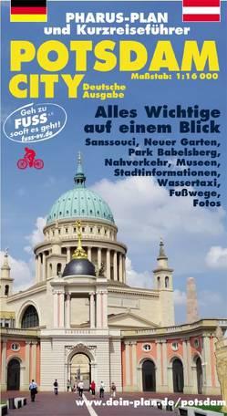 Pharus-Plan und Kurzreiseführer Potsdam City, 1:16000 von Bernstengel,  Rolf