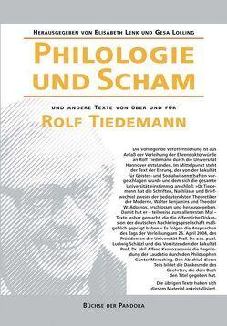 Philologie und Scham von Lenk,  Elisabeth, Lolling,  Gesa