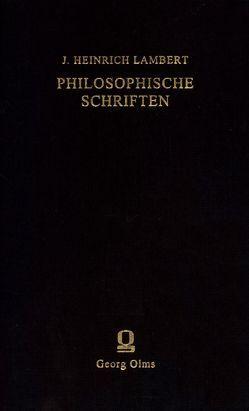 Philosophische Schriften von Emmel,  Armin, Lambert,  Johann Heinrich, Spree,  Axel