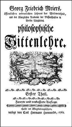 Philosophische Sittenlehre von Meier,  Georg Friedrich