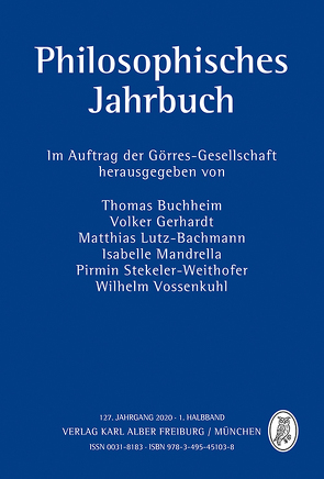 Philosophisches Jahrbuch von Buchheim,  Thomas, Gerhardt,  Volker, Lutz-Bachmann,  Matthias, Mandrella,  Isabelle, Stekeler-Weithofer,  Pirmin, Vossenkuhl,  Wilhelm