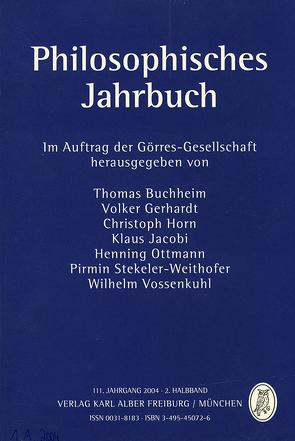 Philosophisches Jahrbuch von Buchheim,  Thomas