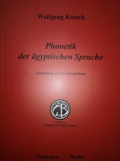 Phonetik der ägyptischen Sprache von Kosack,  Wolfgang