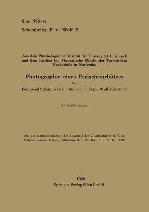 Photographie eines Perlschnurblitzes von Scheminzky,  Ferdinand, Wolf,  Franz