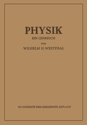 Physik von Westphal,  Wilhelm Heinrich