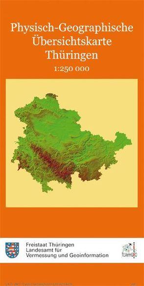 Physisch-Geographische Übersichtskarte Thüringen