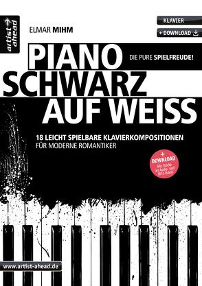 Piano schwarz auf weiß von Mihm,  Elmar