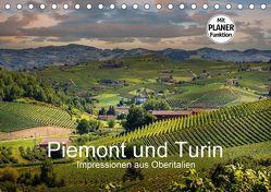 Piemont und Turin (Tischkalender 2018 DIN A5 quer) von Fahrenbach,  Michael