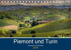 Piemont und Turin (Tischkalender 2019 DIN A5 quer) von Fahrenbach,  Michael