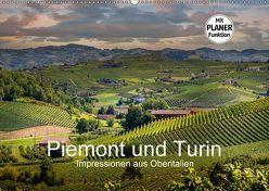 Piemont und Turin (Wandkalender 2018 DIN A2 quer) von Fahrenbach,  Michael