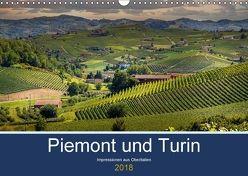 Piemont und Turin (Wandkalender 2018 DIN A3 quer) von Fahrenbach,  Michael
