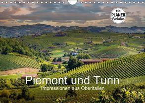 Piemont und Turin (Wandkalender 2018 DIN A4 quer) von Fahrenbach,  Michael