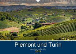 Piemont und Turin (Wandkalender 2019 DIN A3 quer) von Fahrenbach,  Michael