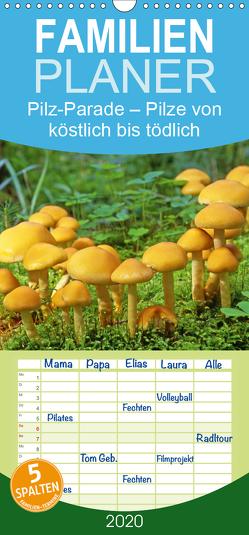 Pilz-Parade – Pilze von köstlich bis tödlich – Familienplaner hoch (Wandkalender 2020 , 21 cm x 45 cm, hoch) von CALVENDO