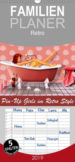 Pin-Up Girls im Retro Style by Mausopardia – Familienplaner hoch (Wandkalender 2019 , 21 cm x 45 cm, hoch) von Jüngling alias Mausopardia,  Monika