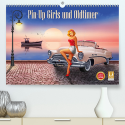 Pin-Up Girls und Oldtimer by Mausopardia (Premium, hochwertiger DIN A2 Wandkalender 2020, Kunstdruck in Hochglanz) von Jüngling alias Mausopardia,  Monika