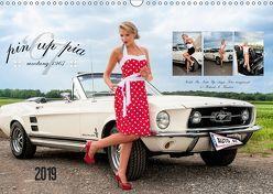 Pin Up Pia & Mustang '67 (Wandkalender 2019 DIN A3 quer)