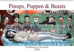 Pin-ups, Puppen & kleine Monster (Wandkalender 2019 DIN A2 quer) von Horwath,  Sara