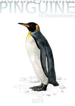 Pinguine – 13 Illustrationen (Wandkalender 2019 DIN A4 hoch) von Spangenberg,  Frithjof