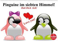 Pinguine im siebten Himmel! (Wandkalender 2020 DIN A2 quer) von Stanzer,  Elisabeth