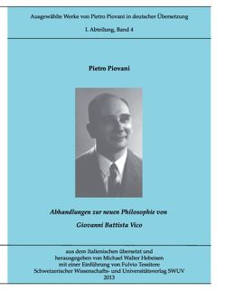 Piovani-Edition Bd. 4 von Hebeisen,  Michael Walter, Piovani,  Pietro, Tessitore,  Fulvio