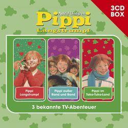 Pippi Langstrumpf – 3CD Hörspielbox von Harun,  Helmut, Lindgren,  Astrid, Riedel,  Georg