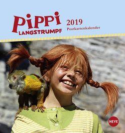 Pippi Langstrumpf Postkartenkalender – Kalender 2019 von Heye