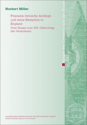 Piranesis römische Anfänge und seine Rezeption in England von Miller,  Norbert