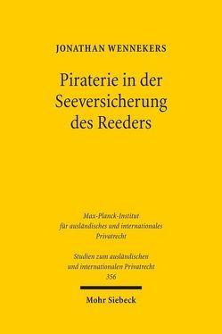 Piraterie in der Seeversicherung des Reeders von Wennekers,  Jonathan