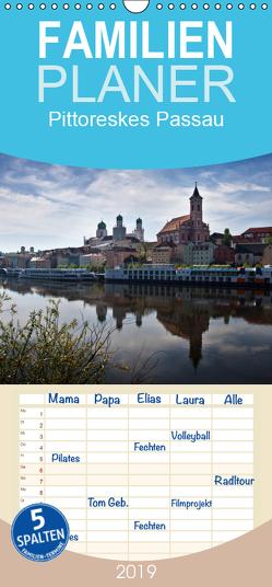 Pittoreskes Passau – Familienplaner hoch (Wandkalender 2019 , 21 cm x 45 cm, hoch) von boeTtchEr,  U
