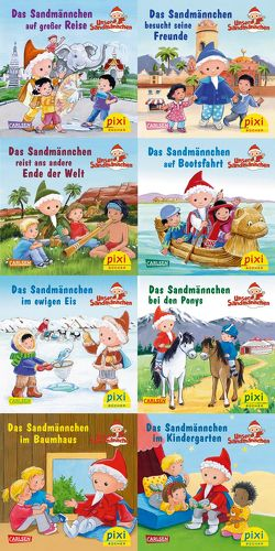 Pixi-Box 265: Das Sandmännchen unterwegs (8×8 Exemplare) von Dreller,  Christian, Flad,  Antje, Nettingsmeier,  Simone