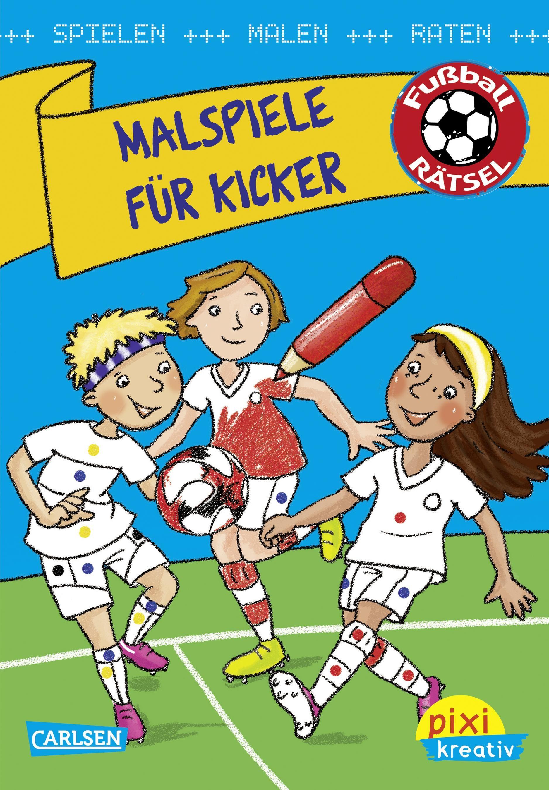 Pixi kreativ 107: VE 5 Malspiele für Kicker: Spielen, malen, raten wi