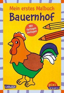 Pixi kreativ 118: VE5 Mein erstes Malbuch mit farbigen Vorlagen: Bauernhof von Pöter,  Andrea