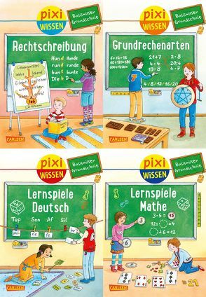 Pixi Wissen: Pixi Wissen 4er-Set: Basiswissen Grundschule (4×1 Exemplar) von Bade,  Eva, Coenen,  Sebastian