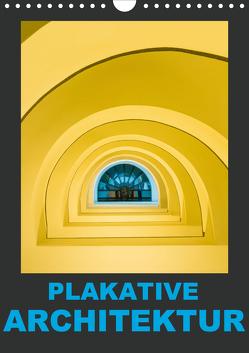 Plakative Architektur (Wandkalender 2020 DIN A4 hoch) von Caccia,  Enrico