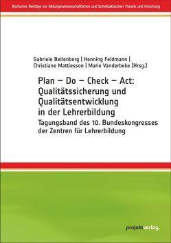 Plan – Do – Check – Act von Bellenberg,  Gabriele, Feldmann,  Henning, Mattiesson,  Christiane, Vanderbeke,  Marie