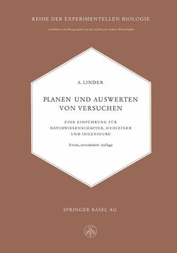 Planen und Auswerten von Versuchen von Linder,  Arthur