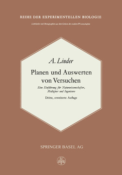 Planen und Auswerten von Versuchen von Linder,  A.