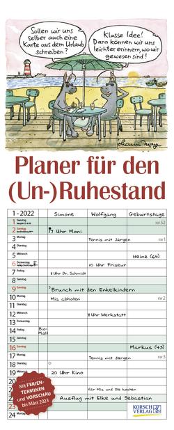 Planer für den (Un-)Ruhestand 2022 von Korsch Verlag, Mayr,  Johann