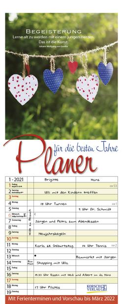 Planer für die besten Jahre 2021 von Korsch Verlag