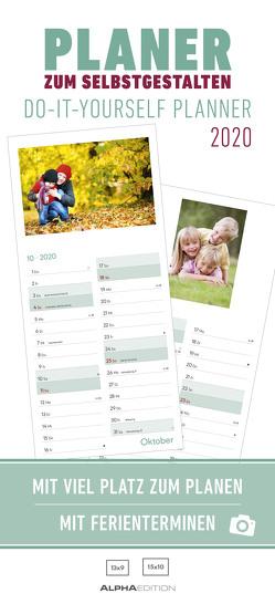 Planer zum Selbstgestalten 2020 – Bastelkalender – Do it yourself calendar (16 x 35) – datiert – 1 Spalte – Fotokalender – Wandplaner – mit Ferienterminen von ALPHA EDITION