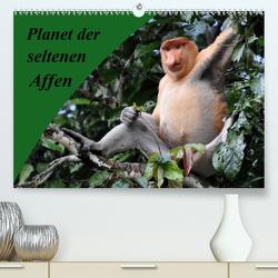 Planet der seltenen Affen (Premium, hochwertiger DIN A2 Wandkalender 2020, Kunstdruck in Hochglanz) von Edel,  Anja