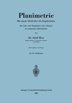 Planimetrie von Hess,  Adolf
